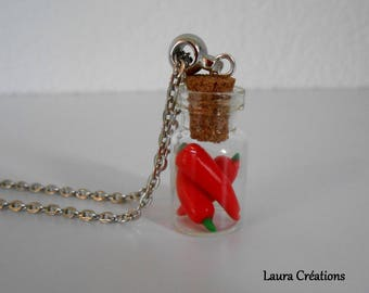 Spice vial necklace