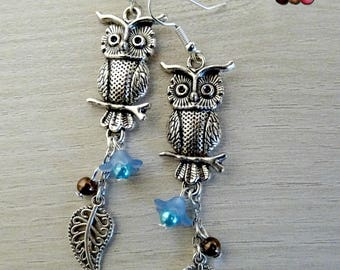Earring dangle owls