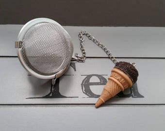 Ball tea Infuser, stainless steel, ice cream chocolate ice ball resin