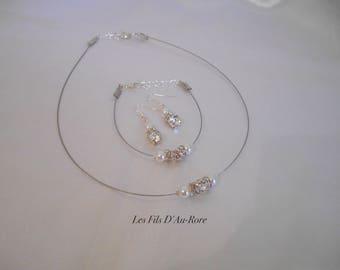 INAYA with Swarovski crystal wedding bracelet