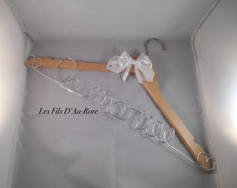 Wooden wedding hanger
