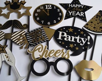 Accessories photobooth x 12 new year, happy new year 2018