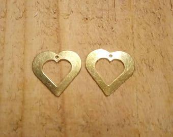 1 charm double heart