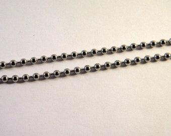 50 CM chain mesh ball Silver 3 mm BO15