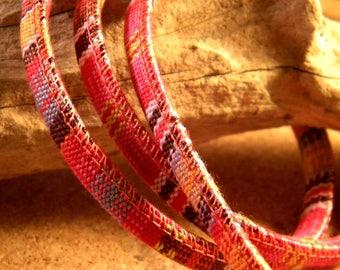 90 CM cotton cord ethnic 6 mm - pink - orange - CE-4