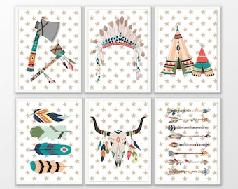 A4 poster for Indian or Tribal nursery