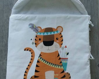 Bunting pattern Tiger - baby blanket - baby gift - handmade