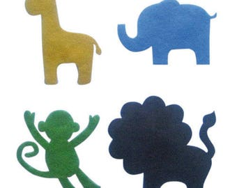 Set of jungle animals adhesive felt °