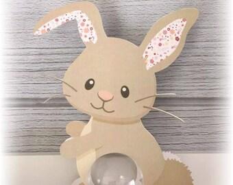 Box christening Bunny ball 5cm - themed animal forest