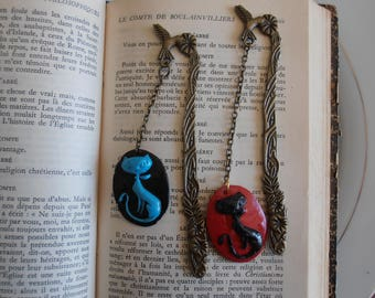 Set of 2 bookmarks cats