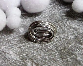Twisted very trendy Silver Aluminum wire ring