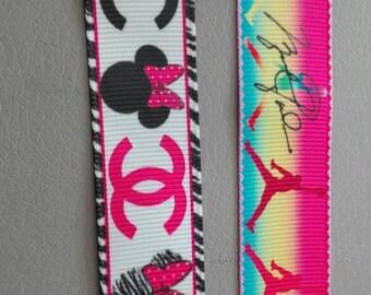 lot 2 x 1 meter Ribbon grosgrain Ribbon 22mm mark