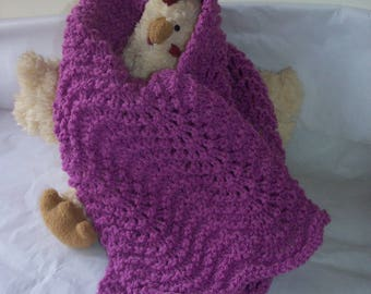 Baby girl knitted handmade scarf