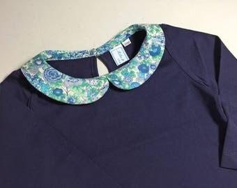 Shirt collar liberty Elysian turquoise - 2 years
