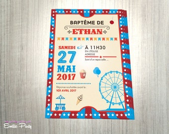 Invitation theme: Carnival / county fair