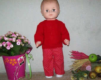 clothes for dolls 40 cm, pants, sweater, compatible Michel fashions and work