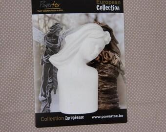 European plaster blank woman bust