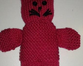 handknitted blanket Garnet rabbit