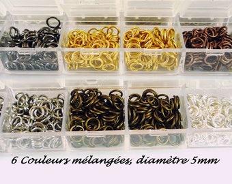 Rings 5mm color melangees1 box 90 gr (ap113)
