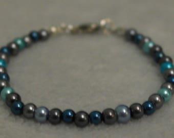 """Pearl bracelet """"Dark Sky"""""""