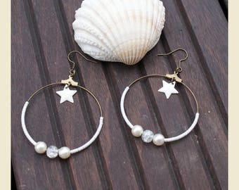 """beautiful as the snow"" hoop earrings"
