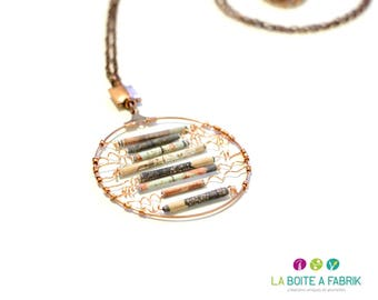 """Ethnic and chic necklace """"Glim"""" - created 2015"""
