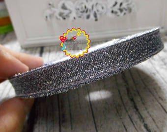 1 roll/22metres Ribbon glitter black 1 CM