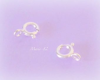 6 mm - Sterling Silver Spring ring clasps
