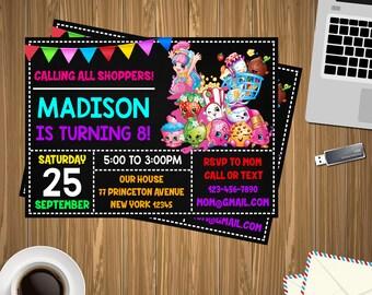 Shopkins Invitation, shopkins Birthday, shopkins Printable, shopkins Editable, shopkins PDF, shopkins party birthday, shopkins edit,