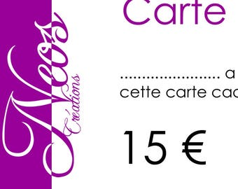 Gift voucher worth € 15