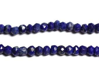 10pc - stone - Lapis Lazuli faceted 3x2mm - 4558550090355 beads