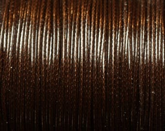 5 m - 1 wax cotton cord mm Brown 4558550016041 coffee Brown