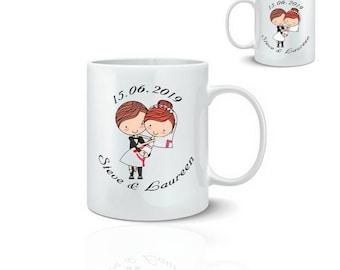Personalized wedding - ceramic mug mug 325 ml