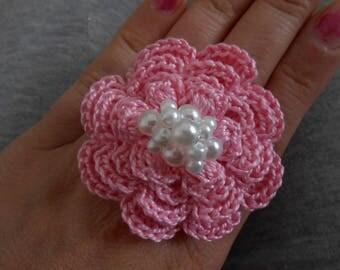 Rose cotton ring