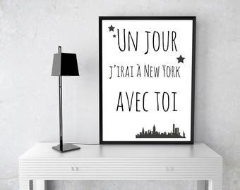 """Poster """"New York avec toi"""""""