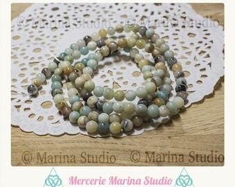 10 round 6mm natural amazonite - gemstone beads