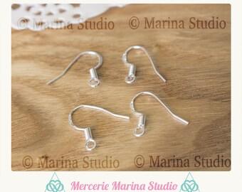50 hooks earrings in Sterling Silver marked in925th