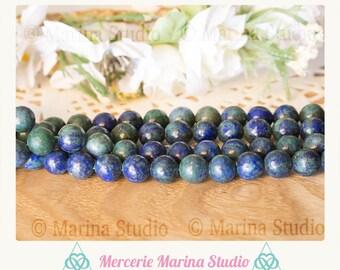 azurite malachite 10mm 8mm 6mm 10 beads * reiki * chakras