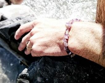 Bracelet - gemstones (Amethyst)