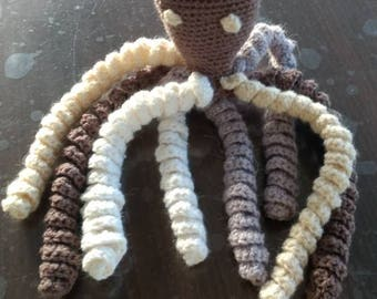 Octopus crochet blanket