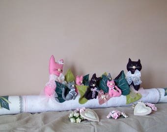 cushion decorative flange door decoration home decor for window-shabby chic romantic cozy cottage cat,