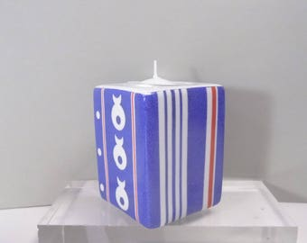 Marine atmosphere hand painted porcelain candle holder