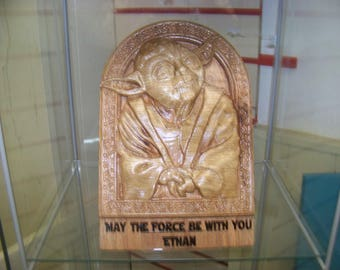 Customised Star Wars Yoda Plaque