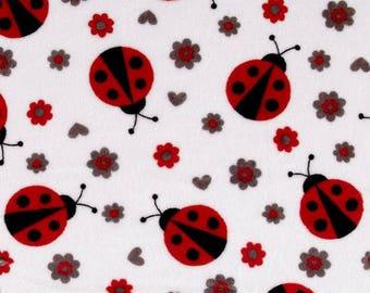 Velvet coupon Ladybug Minky fabric