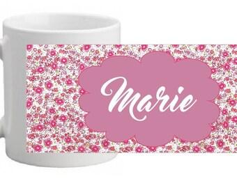 """""""Flower print"""" custom ceramic MUG"""