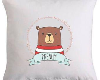 """Cute little bear"" pillow personalized"