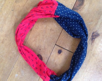 Large reversible infinity scarf / tube scarf