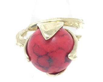 Red Jasper Bud Ring