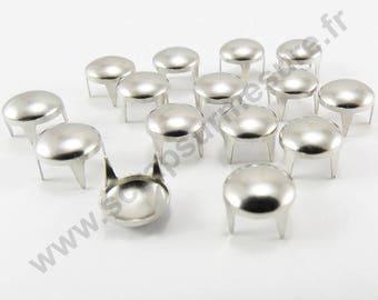 Round setting - silver - 8mm - x 15pcs nail