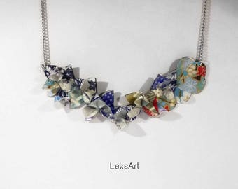Petals Yoshino cherry 染井吉野 fly Origami necklace